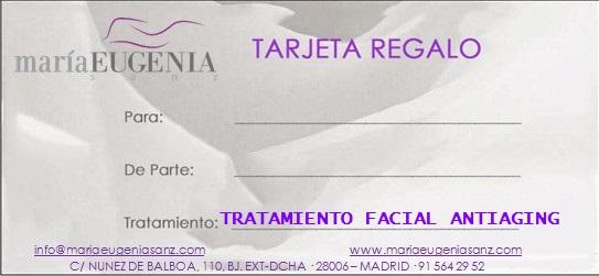 Tarjeta Regalo / Trat.3 - TRATAMIENTO ANTIAGING - 75 min.